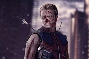 Hawkeye X Zombie What If Wallpaper