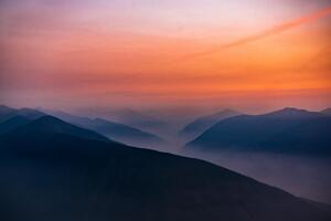 Hazy Sunset In Olympic National Park 5k Wallpaper
