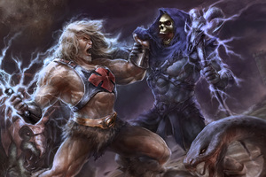 He Man Vs Skeletor Artwork