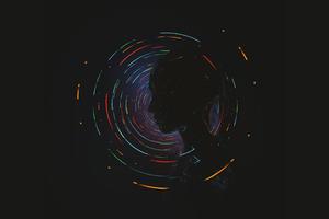 Head Colorful Dark Reflection Wallpaper
