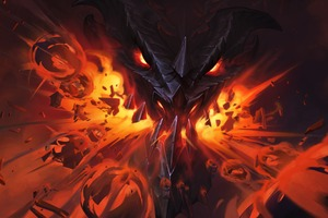 Hearthstone Erbe Der Drachen Dragon Flame Wallpaper