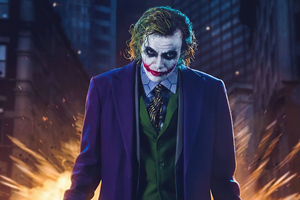 Heath Ledger Joker Cosplay 4k