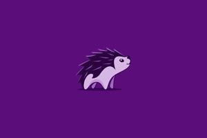 Hedgehog Minimal 4k Wallpaper