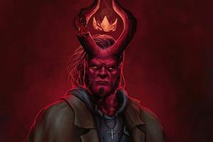 Hell Boy 5k Wallpaper