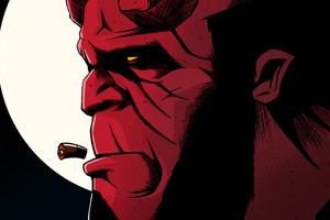 Hellboy Art 4k Wallpaper