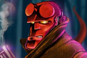 Hellboy Art 8k Wallpaper