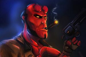 Hellboy Cigar Wallpaper