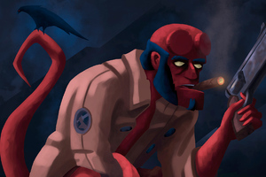 Hellboy Digital Artwork New