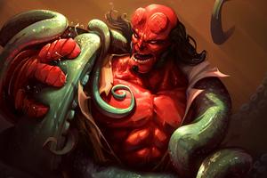 Hellboy Fan Art 4k