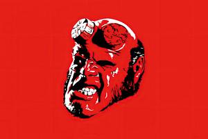 Hellboy Minimal 4k Wallpaper