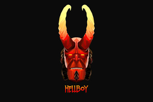 Hellboy Minimalism 4k 2020