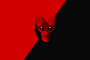 Hellboy Minimalism 4k