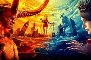 Hellboy Movie Poster 5k Wallpaper