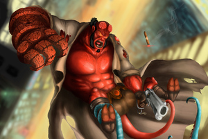 Hellboy New Artwork Wallpaper