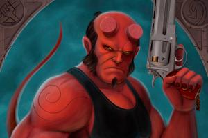 Hellboy Tribute 4k Wallpaper