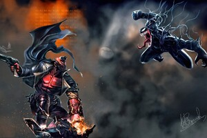 Hellboy Vs Venom Wallpaper