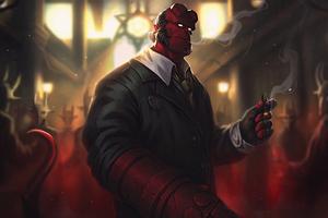 Hellboy With Cigar 4k Wallpaper