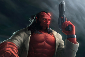 Hellboy With Gun