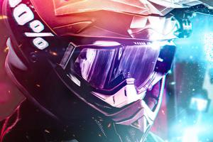 Helmet Motorbiker 4k Wallpaper