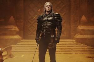 Henry Cavill As Geralt Of Rivia The Witcher Season 2 Wallpaper