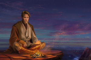 Hermit Obi Wan Kenobi 8K Artwork Wallpaper