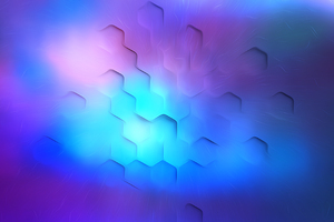 Hexa Polygon Soothing Lights 4k Wallpaper