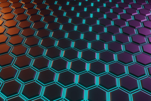 Hexagon Glowing Tiles 5k