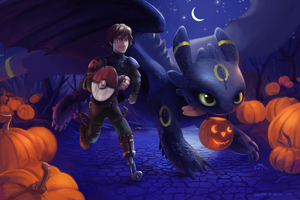 Hiccup And Toothless Artwork