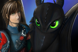Hiccup And Toothless Digital Art New Wallpaper