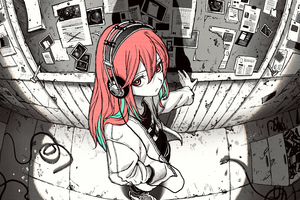 High Angel Anime Girl Sketch Art 5k Wallpaper