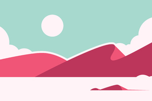 High Contrast Desert Dunes Minimalistic 4k