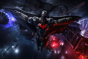 High Tech Batman Suit Open Wings 5k Wallpaper