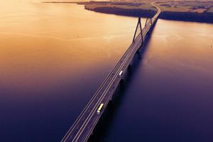 Highway Bridge Evening 5k Wallpaper