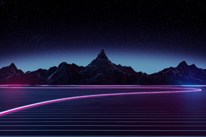 Highway Retrowave 4k Wallpaper
