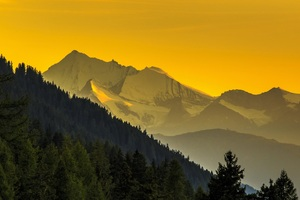 Hills Yellow Landscape 4k