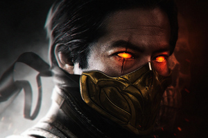 Hiroyuki Sanada As Scorpion Mortal Kombat 4k