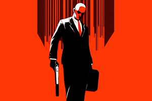 Hitman Minimal Cover 5k Wallpaper