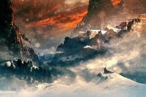Hobbit Mountains Wallpaper