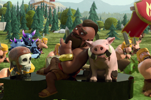 Hog Rider Pig Clash Of Clans Wallpaper