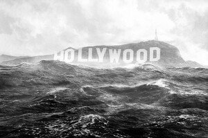 Hollywood Monochrome Wallpaper
