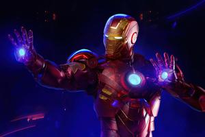 Holographic Iron Man 4k