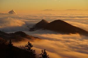 Homberg Clouds Sea Of Fog Wallpaper