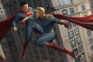 Homelander Vs Superman 4k Wallpaper