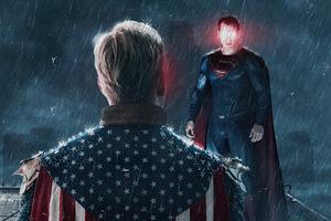 Homelander Vs Superman Wallpaper