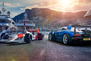 Honda F1 And Mclaren Senna 5k