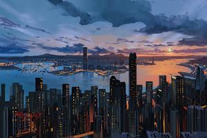 Hong Kong City Pain Art 5k Wallpaper
