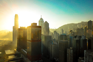 Hongkong Buildings Skycrapper City 4k