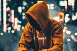 Hoodie Anonymus Boy Sitting Aside 4k Wallpaper