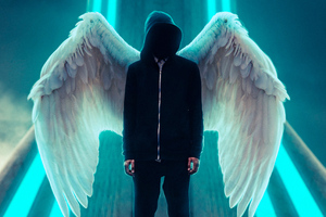 Hoodie Guy Wings Wallpaper