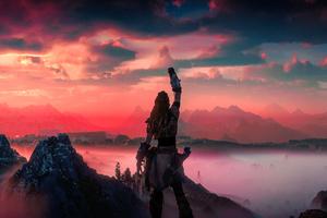 Horizon Zero Dawn Victory 5k Wallpaper